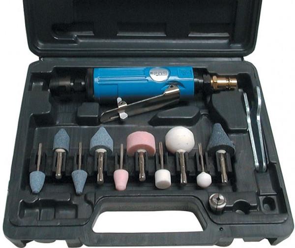 Druckluft-Einhandstabschleifer-Set 15-tlg.